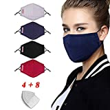 LILIfoodshop faciales Protectoras de algodón Reutilizables,...