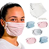 tapidecor Rayas Pack 5 UDS MASCARILLAS DE Tela Lavable...