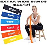 Atemi Sports Bandas de Resistencia | Extra Ancho Mini bucles...