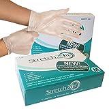 Caja de 100 guantes desechables y reciclables, sin polvo ni...