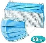 50 PCS de máscaras de 3 capas, protección respiratoria,...