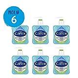 Carex - Pack de 6 botellas de jabón líquido antibacteriano...
